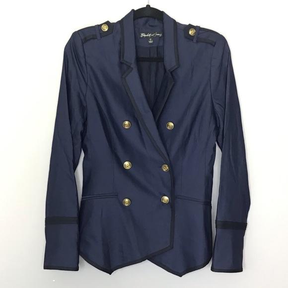 Elizabeth and James Jackets & Blazers - Elizabeth and James Navy military blazer
